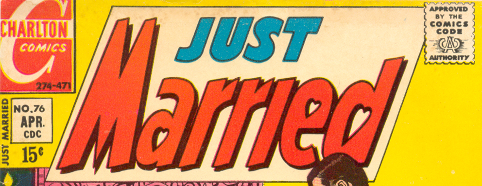 Just Married logo Charlton comic books