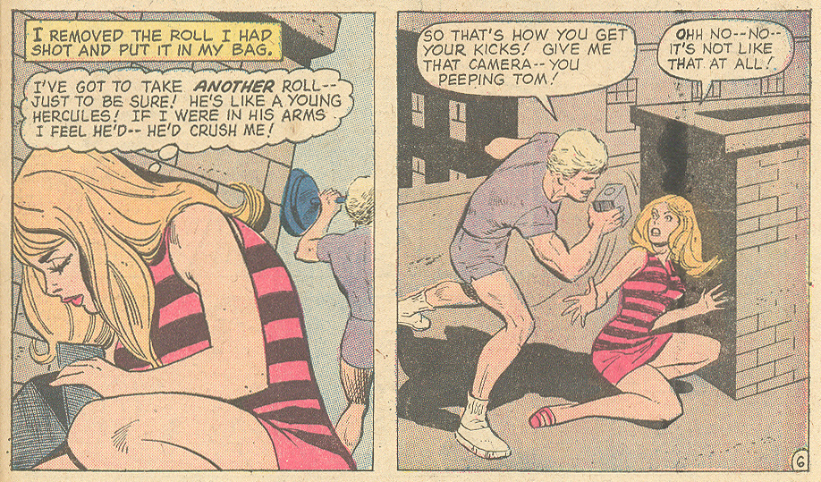 """Miss Peeping Tom!""  Young Romance  #193 (April/May 1973) Pencils: Art Saaf, Inks: Vince Colletta"