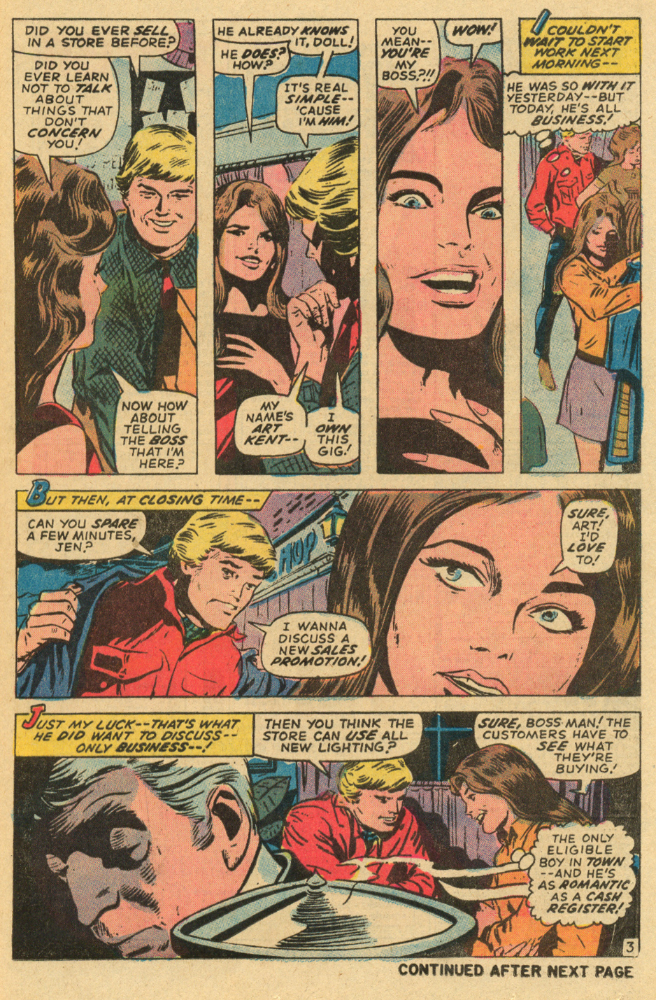 Gene colan romance comic book art Marvel comics