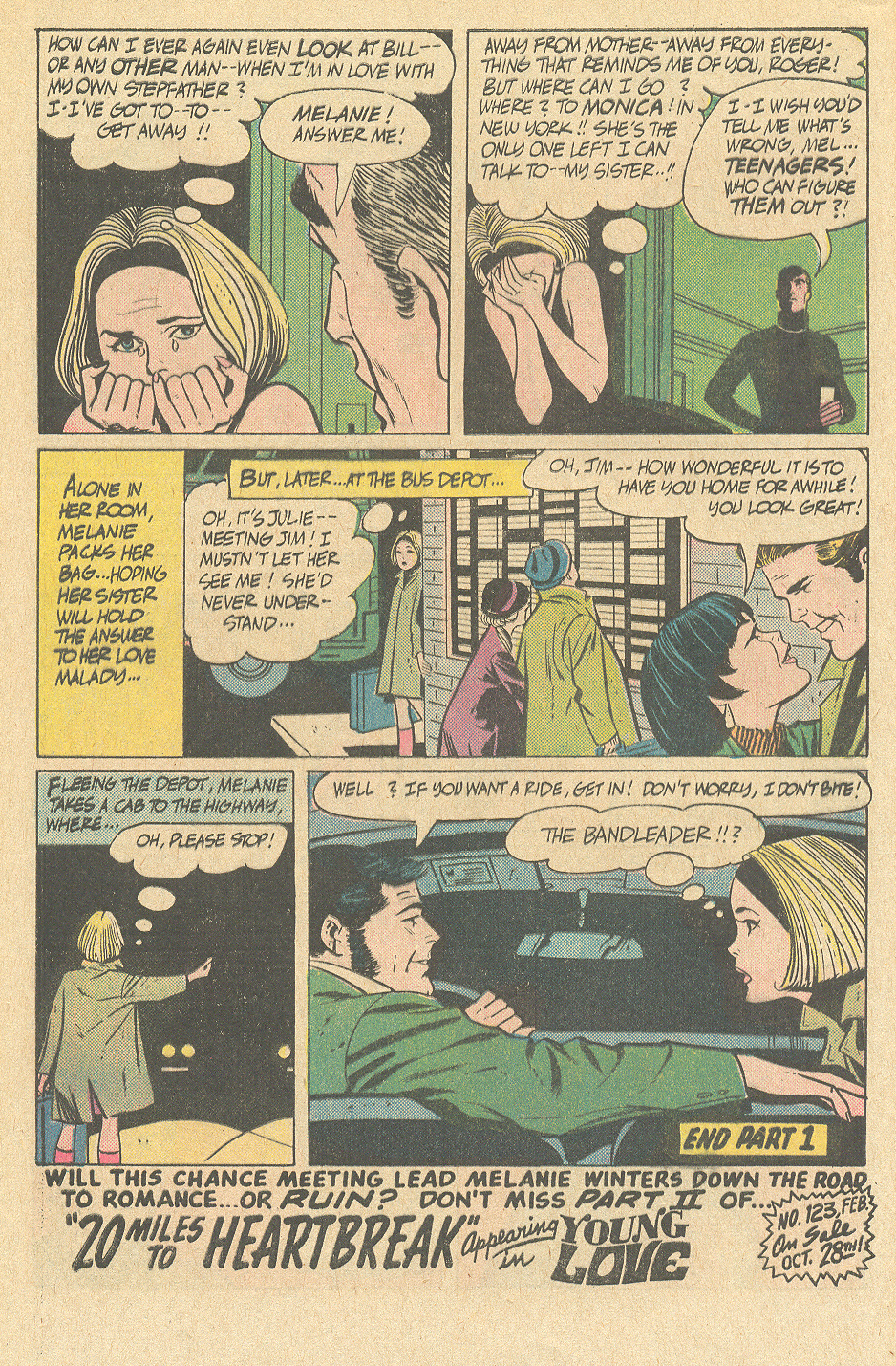 20 Miles to Heartbreak Alex Toth romance comic DC story