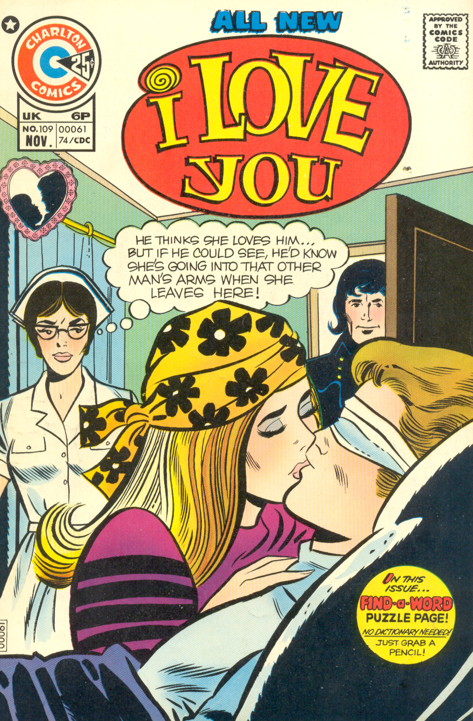 I Love You #109 (November 1974) Pencils and inks: Art Cappello