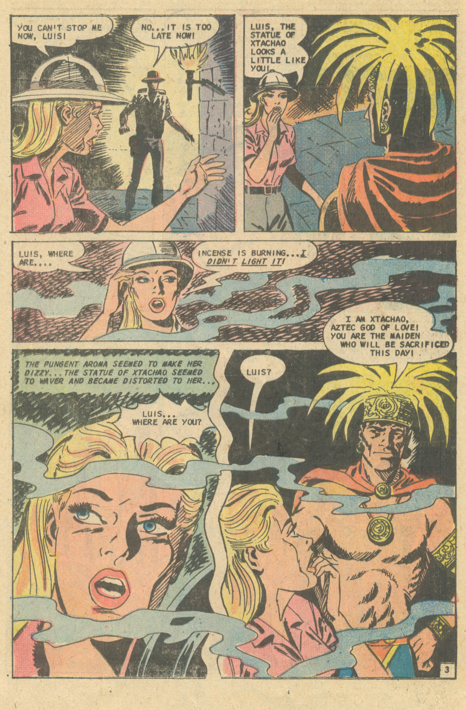 "Xtachoa's Bride"" from For Lovers Only #82 (December 1975) with art by Charles Nicholas and Vincent Alascia"