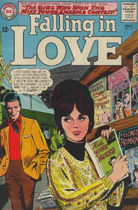 Falling in Love  #75 Cover (May 1965) Pencils by Gene Colan (Cover from the Grand Comics Database)
