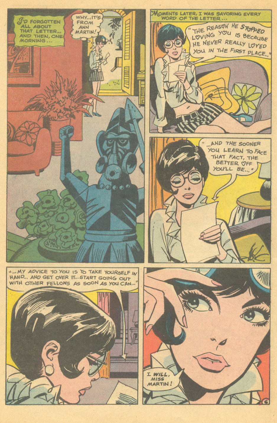 """The Truth About Men""  Falling in Love  #104 (January 1969) Pencils by Ric Estrada"