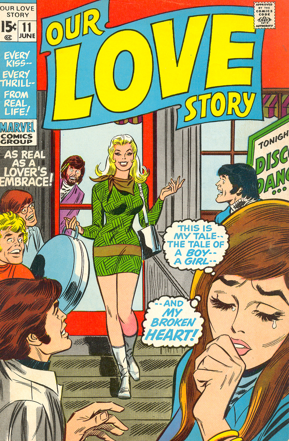 Our Love Story #11 (June 1971) Pencils: John Buscema, Inks: John Romita