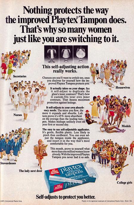 Vintage playtex tampon ad