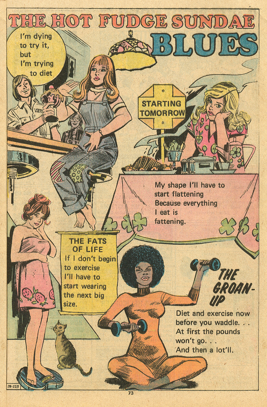 """The Hot Fudge Sundae Blues""  Young Love  #113 (December 1974/January 1975) Illustrated by Creig Flessel"