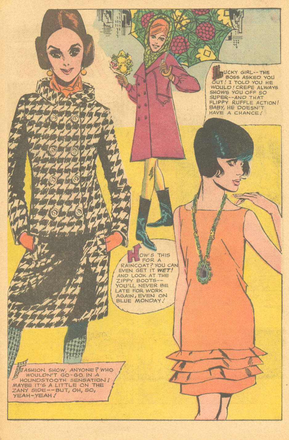 """Mad Mad Modes for Moderns"" Girls' Romances #122 (January 1967) Illustrated by Tony Abruzzo"