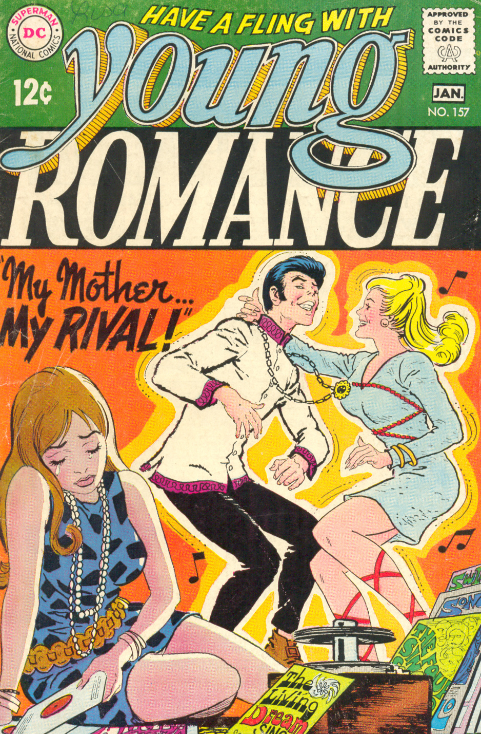"""My Mother... My Rival!"" from Young Romance #157 (December 1968/January 1969)"