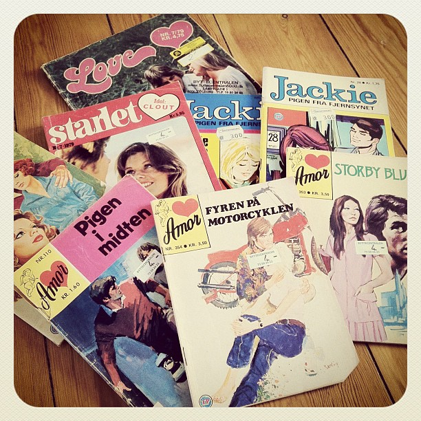 Vintage Danish Romance Comic Books Amor Jackie Starlet Lovers