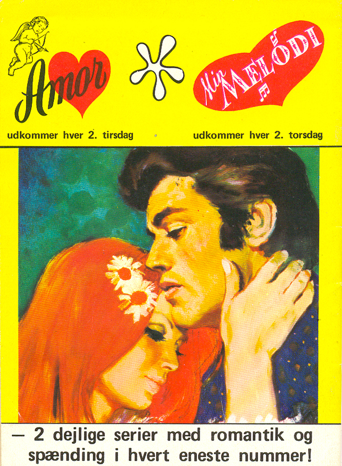 Back cover house ad for  Amor  and another romance title,  Min Melodi . They don't get much more gorgeous than this!