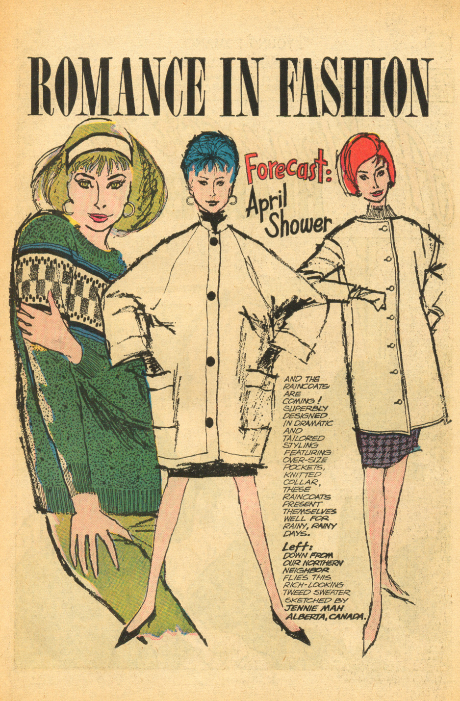 I don't know about where you are, but I could definitely use one of these raincoats this drizzly April!