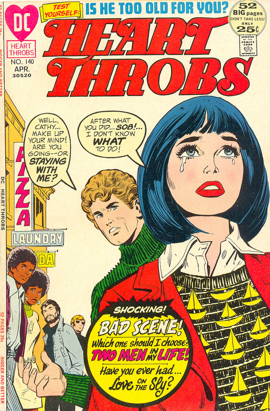 Heart Throbs DC Comics cautionary tale about prejudice and racism romance story