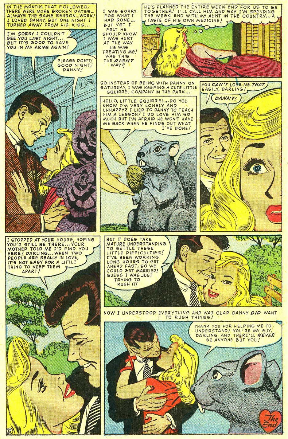 """He's My Guy""  True Tales of Love  #24 (June 1956) Scan courtesy of Tom Lammers"