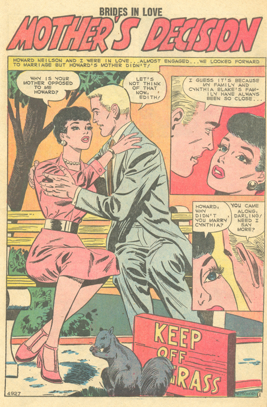 """Mother's Decision""  Brides in Love  #12 (April 1959)"