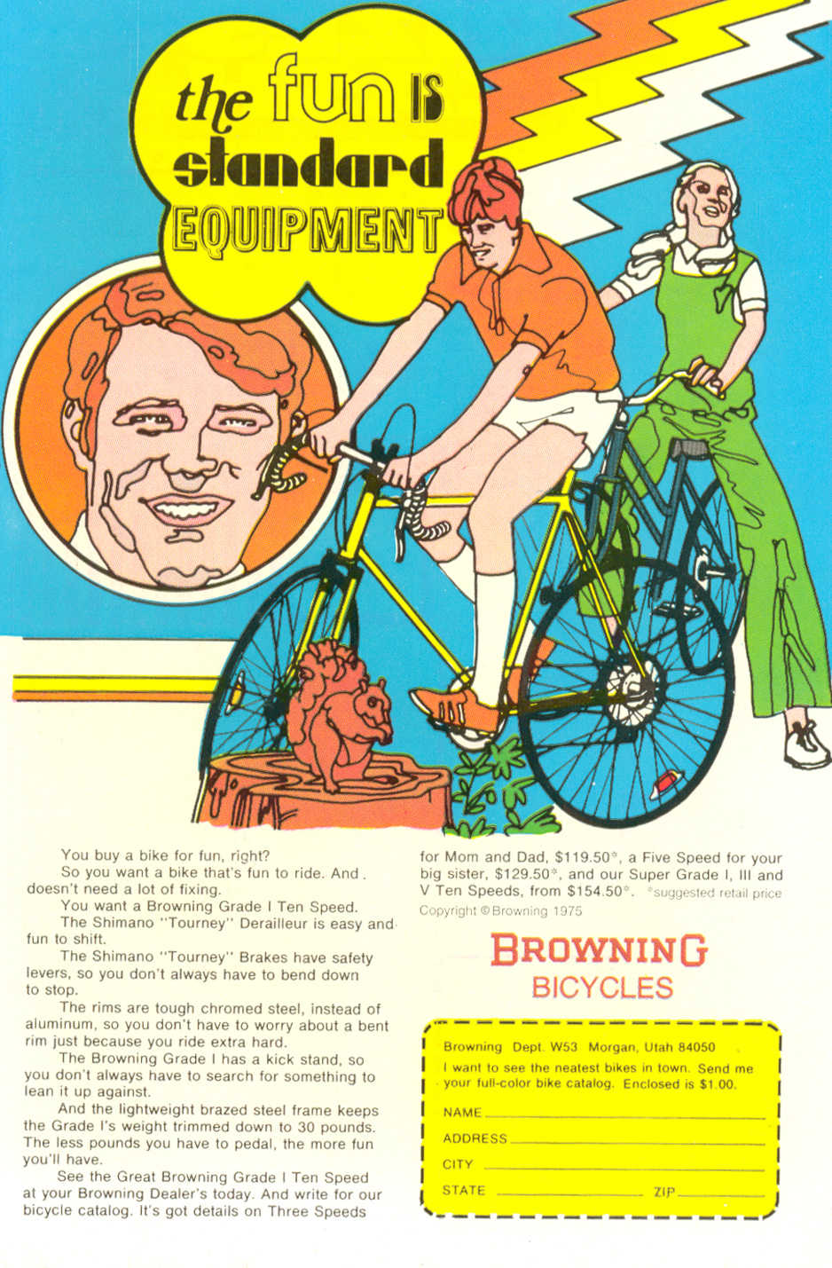 Browning Bicycles Ad From back of  Young Love  #116 (June/July 1975)