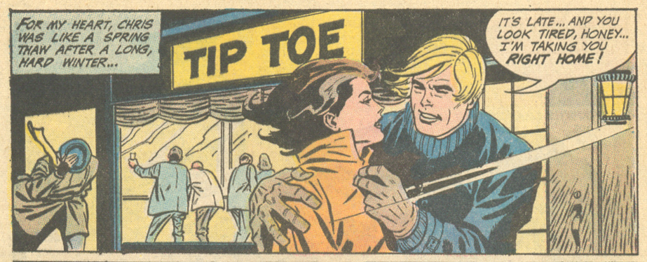 "Tip on down to the Tip Toe! ""Kisses Without Love"" Heart Throbs #131 (April/May 1971)"