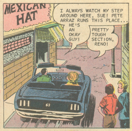 "Don't be timid about venturing outside your comfort zone at the Mexican Hat! ""A Press Agent's Dream"" For Lovers Only #61 (October 1971)"