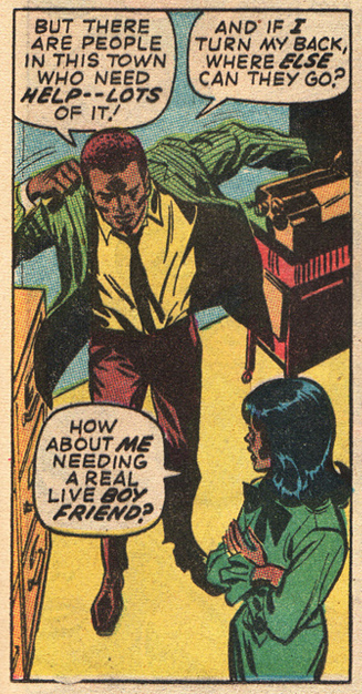 Marvel romance comic book story African American characters love story