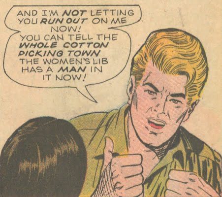 """Nobody Wants a Girl Auto Mechanic!"" from Career Girl Romances #66 (December 1971)"