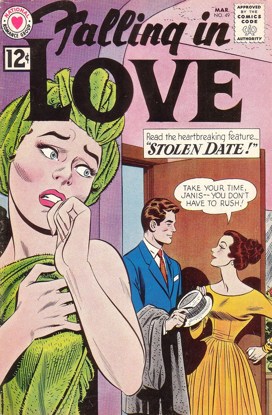 vintage romance comic sequential crush