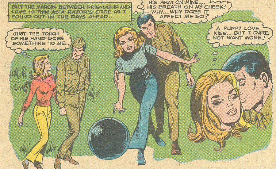 """No Time for Love!"" Girls' Romances #141 (June 1969) Pencils: Win Mortimer, Inks: Vince Colletta"