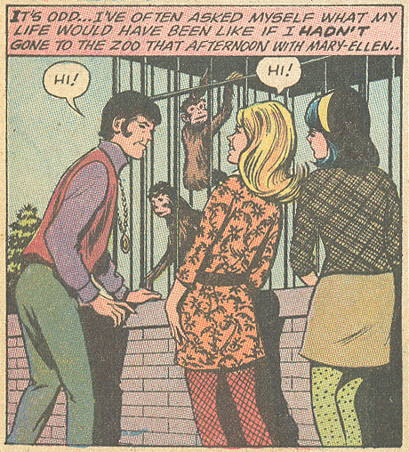 """I'll Never Love Again!"" Girls' Romances #146 (January 1970) Pencils: John Rosenberger"