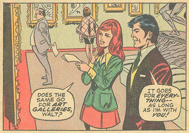 """How Can I Love a Member of the Establishment?"" Our Love Story #20 (December 1972) Pencils: Don Heck, Inks: John Verpoorten"