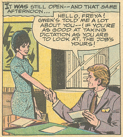 """Hide From Love!"" Secret Hearts #139 (October 1969) Pencils: John Rosenberger"