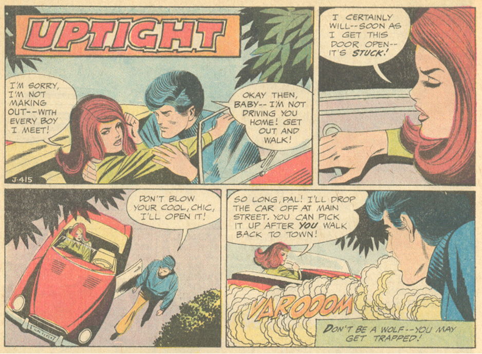 """Uptight"" - Win Mortimer  Girls' Love Stories  #157 (February 1971)"