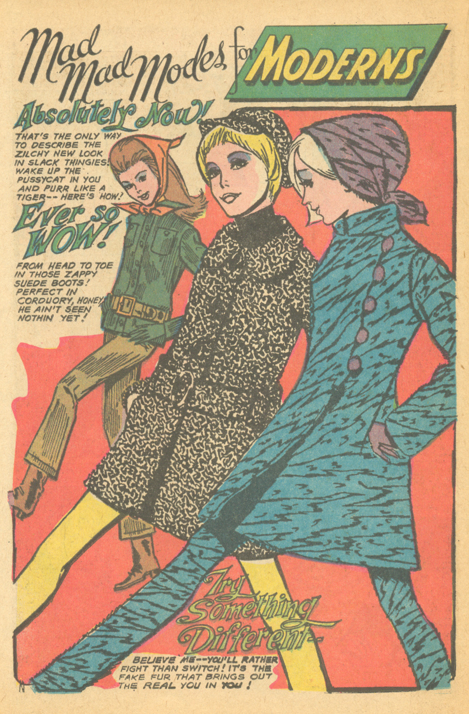 Vintage romance comic book fashion