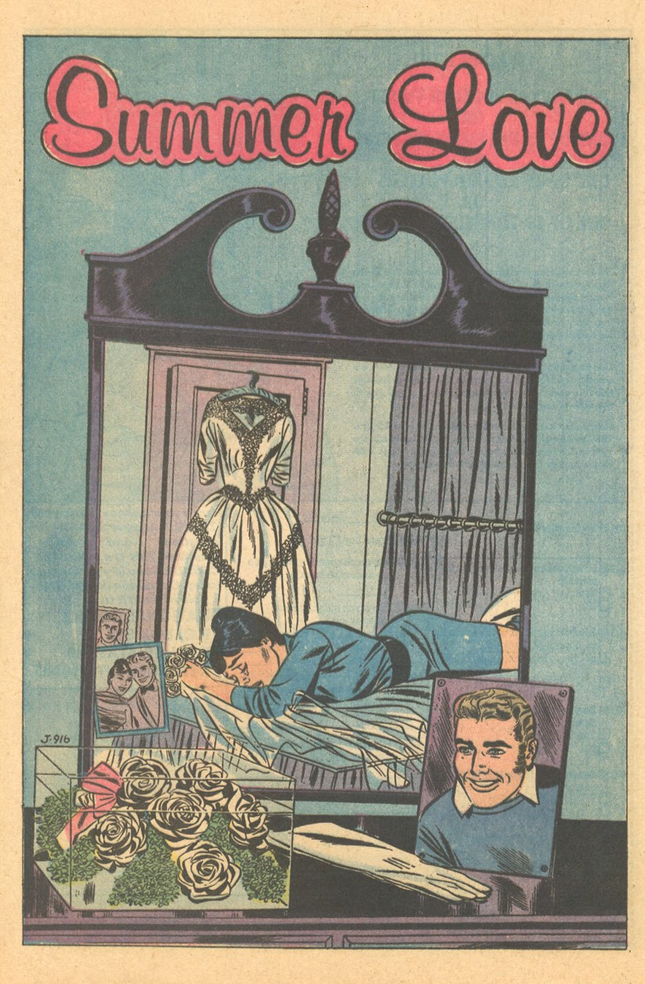 Silent romance story Heart Throbs #63 (December/January 1960)