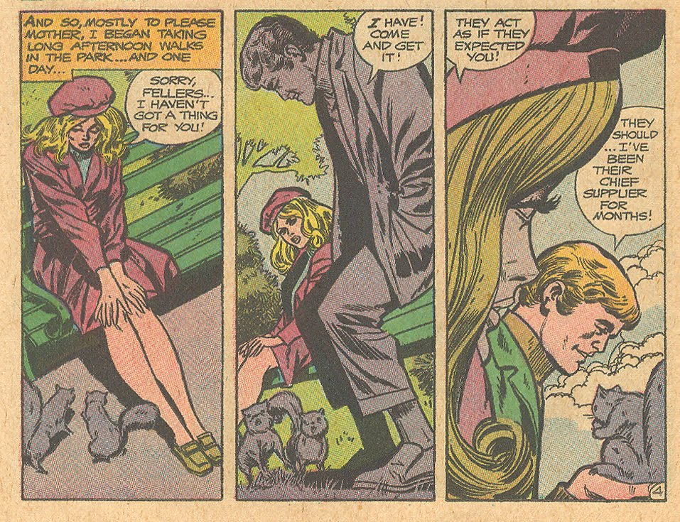 "I knew he looked like a dealer! ""One Love Too Many!""  Falling in Love  #107 (May 1969)"