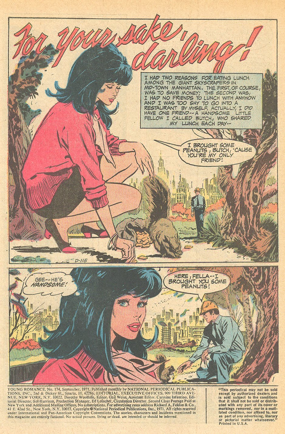 Frank Langford British artist romance comic books Young Love