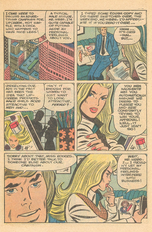 Career woman in the romance comic books