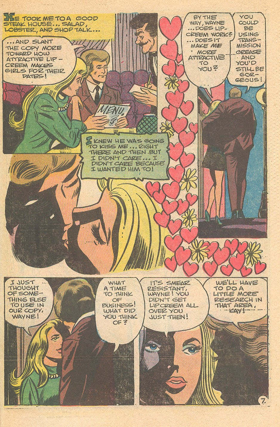 Career woman in the romance comic books