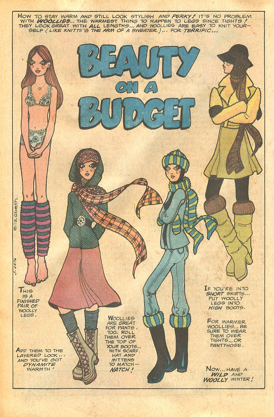 """Beauty on a Budget"" by Elizabeth  Young Love  #124 (March 1977)"