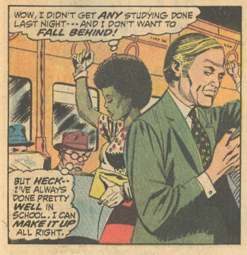 "African American comic book characters  ""I Failed at Love!"" from Our Love Story #18 (August 1972) romance comics Marvel"