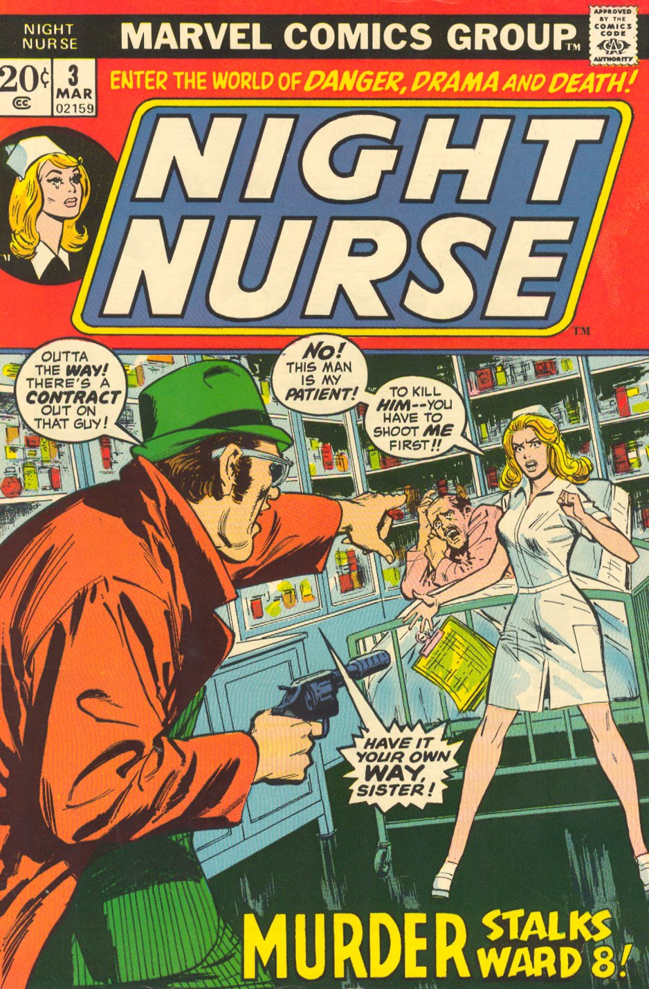 Night Nurse #3 Linda Carter Marvel Comics romance comic book