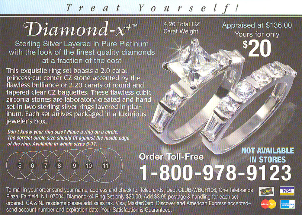 Fake diamonds advertised in comic books
