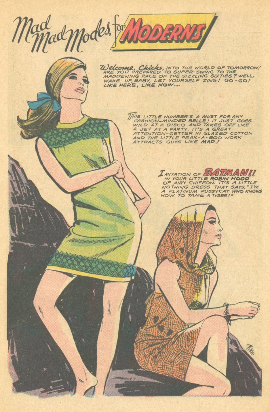 It isn't every day that a romance comic fashion spread evokes a superhero!