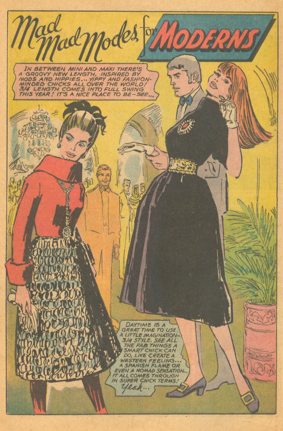 Romance comic book vintage fashion illustration
