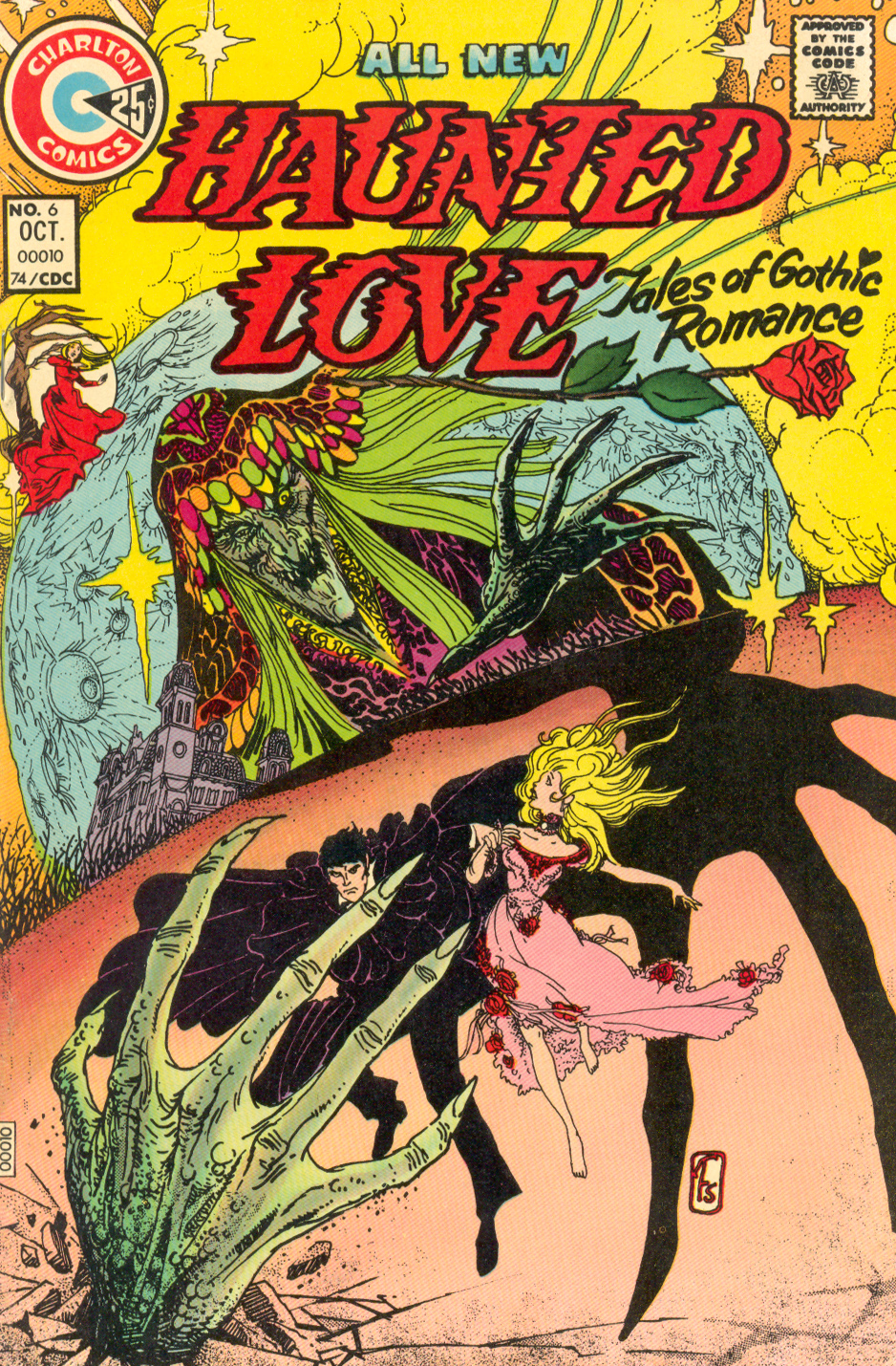 Charlton's Haunted Love #6 Gothic romance comic book