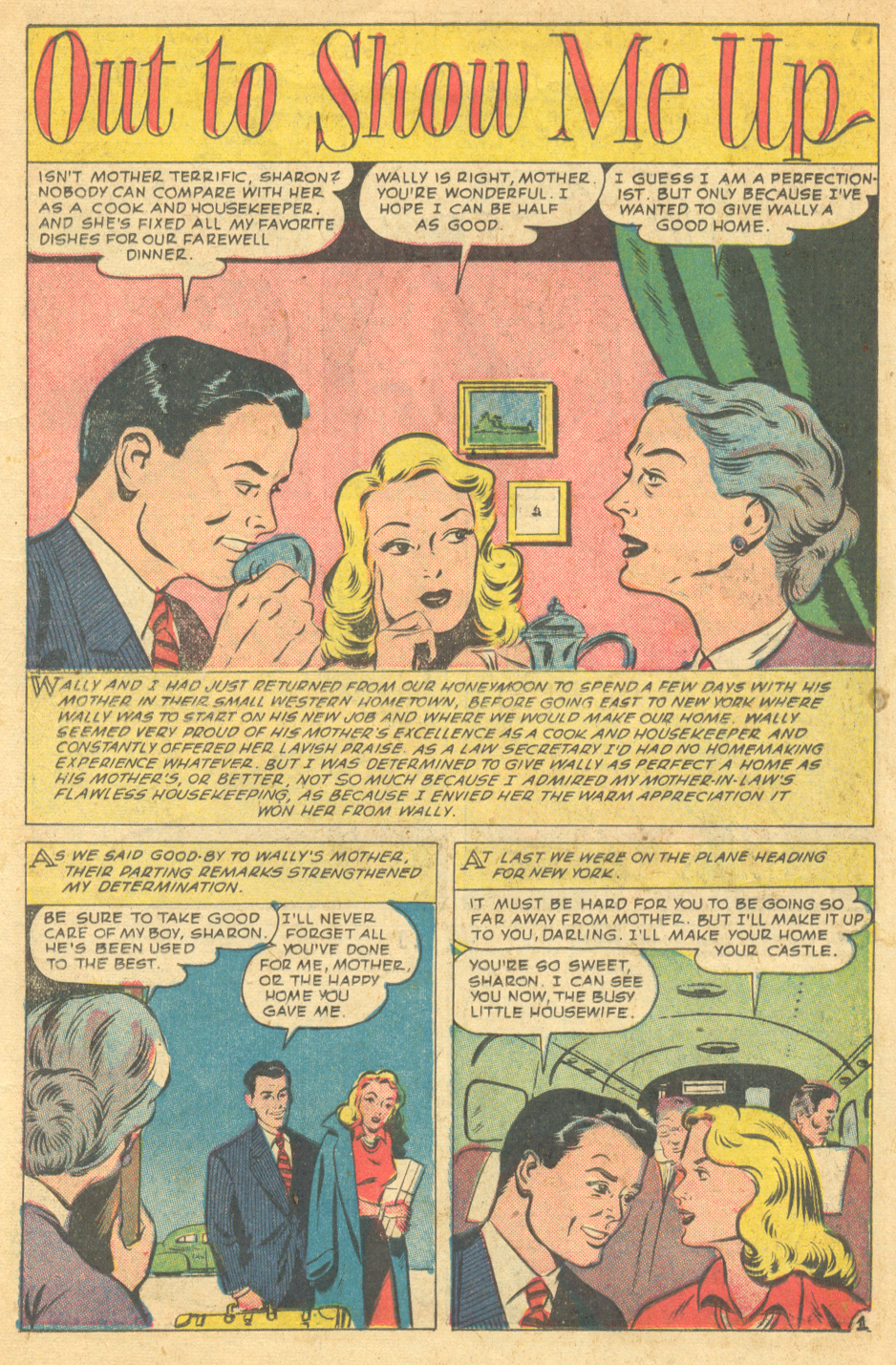 Real Love vintage romance comic book stories sequential crush 1950s