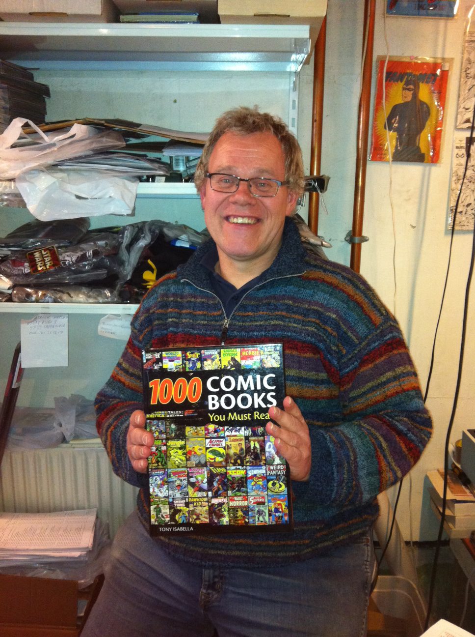 This one is for you, Tony!  Your book is for sale in Denmark! (As held by   Komics   owner, Kjeld)