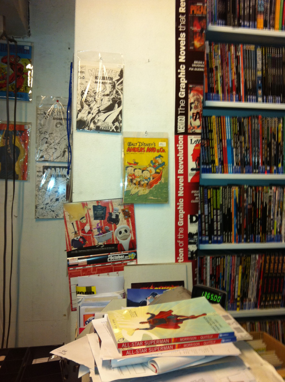 Danish comic book store in Aarhus Jutland
