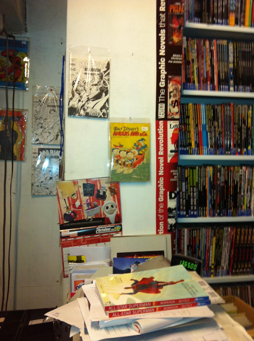 Danish comic book store in Aarhus Jutland