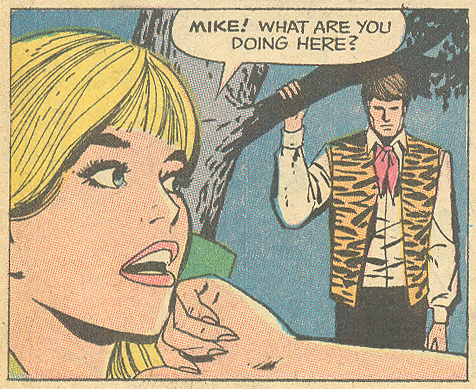 "Immediately following the mysterious disappearance of the local zoo's tiger... From ""Love is a Game... for Two!""  Girls' Romances  #145 (December 1969)"