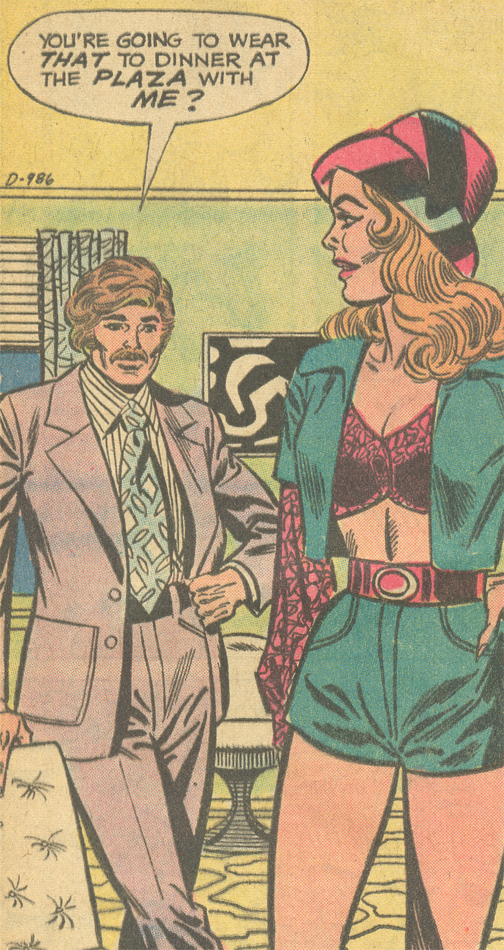 "My thoughts exactly... From ""First Date""  Falling in Love  #142 (August/September 1973)"