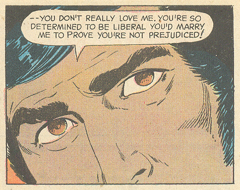 """The Wall Between Us""  Young Romance  #175 (October 1971) Pencils: Art Saaf, Inks: Vince Colletta Interracial romance diversity hispanic characters"